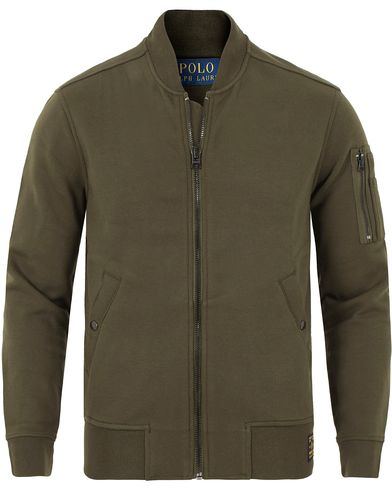 Polo Ralph Lauren Full Zip Bomber Sweater Company Olive i gruppen Tr�jor / Zip-Tr�jor hos Care of Carl (13185111r)
