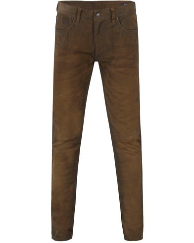 Polo Ralph Lauren Slim Fit Sullivan Roughout Suede Pants Smith Brown i gruppen Bukser / 5-lommersbukser hos Care of Carl (13185511r)