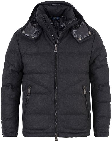 Polo Ralph Lauren Modern Hood Down Wool Jacket Dark Charcoal i gruppen Jackor / Vadderade jackor hos Care of Carl (13186011r)