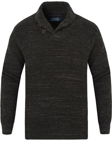 Polo Ralph Lauren Cotton Shawl Sweater Black Heather i gruppen Gensere / Strikkede gensere hos Care of Carl (13186111r)
