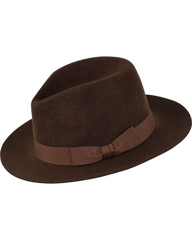 Polo Ralph Lauren Fedora Felt Hat Brown M i gruppen Accessoarer / Hattar hos Care of Carl (13186310)