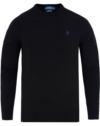 Polo Ralph Lauren Stretch Merino Crew Neck Pullover Polo Black i gruppen Kläder / Tröjor / Pullovers / Rundhalsade pullovers hos Care of Carl (13186611r)