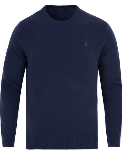 Polo Ralph Lauren Lux Merino Crew Neck Pullover Navy i gruppen Tr�jor / Pullover / Pullover Rundhals hos Care of Carl (13187611r)