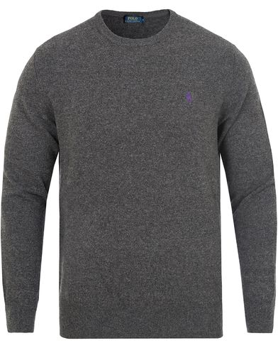 Polo Ralph Lauren Lux Merino Crew Neck Pullover Charcoal Marl i gruppen Gensere / Pullover / Pullovere rund hals hos Care of Carl (13187911r)