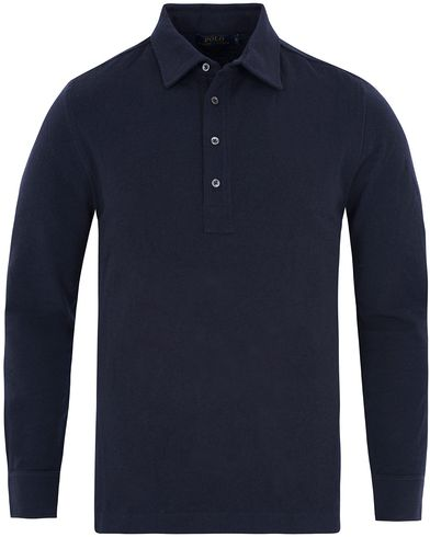 Polo Ralph Lauren Long Sleeve Polo Shirt Hunter Navy i gruppen Pikéer / Långärmade pikéer hos Care of Carl (13188111r)