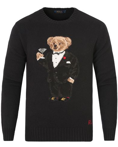 Polo Ralph Lauren Bear Tuxedo Knitted Sweater Black i gruppen Tröjor / Stickade tröjor hos Care of Carl (13188511r)