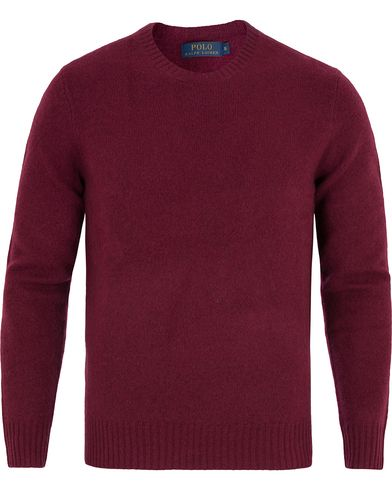 Polo Ralph Lauren Wool/Cashmere Crew Neck Sweater Classic Wine Red i gruppen Kläder / Tröjor / Pullovers / Rundhalsade pullovers hos Care of Carl (13188611r)