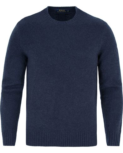 Polo Ralph Lauren Wool/Cashmere Crew Neck Sweater Navy i gruppen Kläder / Tröjor / Pullovers / Rundhalsade pullovers hos Care of Carl (13188711r)