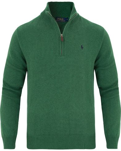 Polo Ralph Lauren Cotton/Curado Half Zip Sweater Baron Green Heather i gruppen Kläder / Tröjor / Zip-tröjor hos Care of Carl (13188811r)