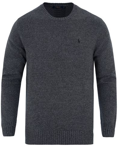 Polo Ralph Lauren Cotton Crew Neck Sweater Dark Charcoal i gruppen Tröjor / Pullovers / Rundhalsade pullovers hos Care of Carl (13189011r)