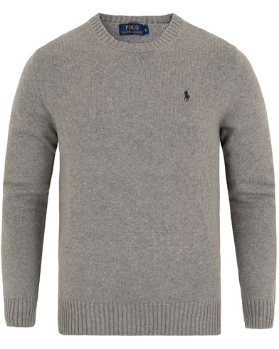 Polo Ralph Lauren Cotton Crew Neck Sweater Fawn Grey Heather i gruppen Tröjor / Pullovers / Rundhalsade pullovers hos Care of Carl (13189111r)