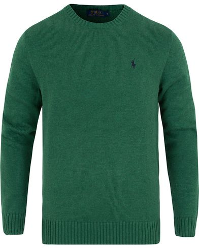 Polo Ralph Lauren Cotton Crew Neck Sweater Baron Green Heather i gruppen Gensere / Pullover / Pullovere rund hals hos Care of Carl (13189311r)