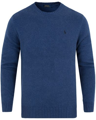 Polo Ralph Lauren Cotton Crew Neck Sweater Shale Blue Heather i gruppen Tröjor / Pullovers / Rundhalsade pullovers hos Care of Carl (13189411r)
