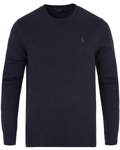 Polo Ralph Lauren Cotton Crew Neck Sweater Hunter Navy i gruppen Gensere / Pullover / Pullovere rund hals hos Care of Carl (13189511r)