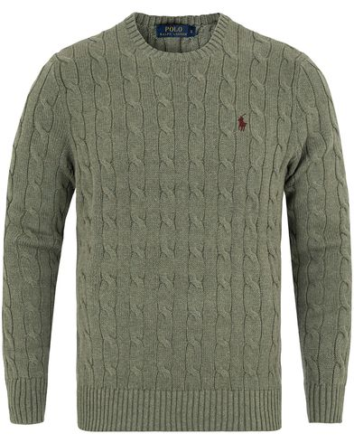 Polo Ralph Lauren Cotton Cable Crew Neck Pullover Lovette Heather i gruppen Gensere / Strikkede gensere hos Care of Carl (13189811r)