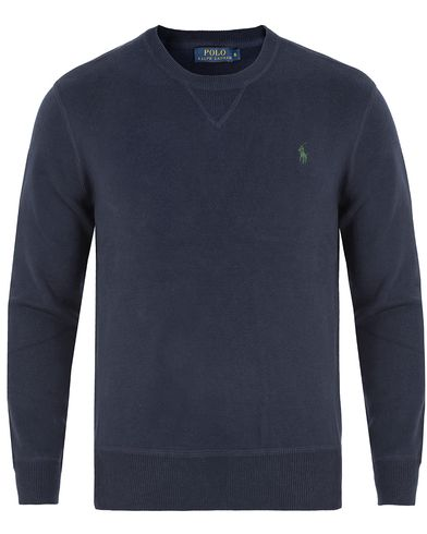 Polo Ralph Lauren Crew Neck Knitted Sweater Hunter Navy i gruppen Klær / Gensere / Strikkede gensere hos Care of Carl (13190611r)