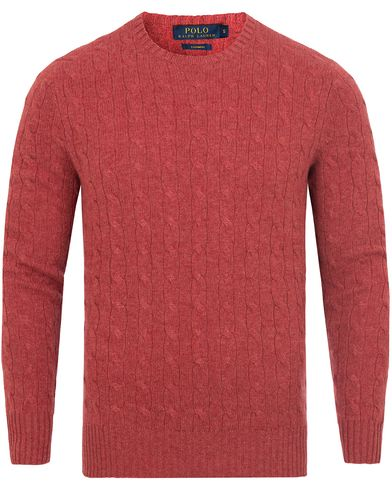 Cashmere Knitted Cable Persimmon Heather  i gruppen Tr�jor / Stickade Tr�jor hos Care of Carl (13191711r)