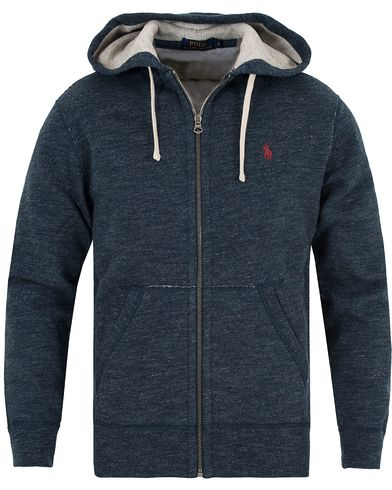 Polo Ralph Lauren Full Zip Hoodie Eclipse Blue i gruppen Kläder / Tröjor / Huvtröjor hos Care of Carl (13192211r)