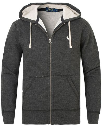 Polo Ralph Lauren Full Zip Hoodie Black Marl Heather i gruppen Tröjor / Huvtröjor hos Care of Carl (13192311r)