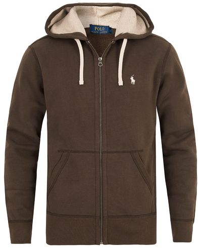 Polo Ralph Lauren Full Zip Hoodie Alpine Brown i gruppen Kläder / Tröjor / Huvtröjor hos Care of Carl (13192411r)