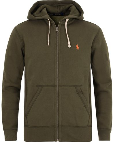 Polo Ralph Lauren Full Zip Hoodie Limeric Green i gruppen Design A / Gensere / Hettegensere hos Care of Carl (13192511r)