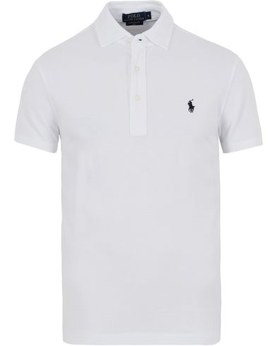 Polo Ralph Lauren Featherweight Mesh Polo White i gruppen Pikéer / Kortermet piké hos Care of Carl (13193111r)
