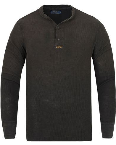 Polo Ralph Lauren Henley Polo Black i gruppen Tröjor / Farfarströjor hos Care of Carl (13193411r)