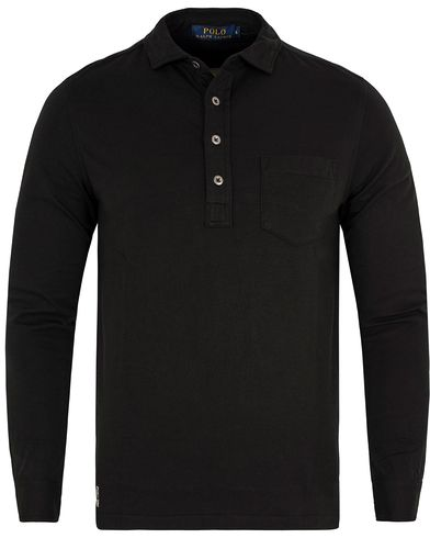 Polo Ralph Lauren Long Sleeve Jersey Pocket polo Polo Black i gruppen Pikéer / Langermet piké hos Care of Carl (13193511r)