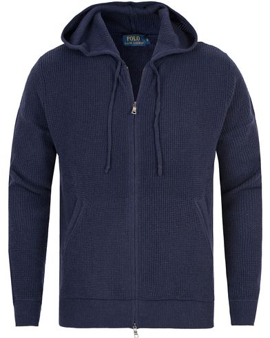 Polo Ralph Lauren Mesh Full Zip Hoodie Hunter Navy i gruppen Klær / Gensere / Hettegensere hos Care of Carl (13194211r)