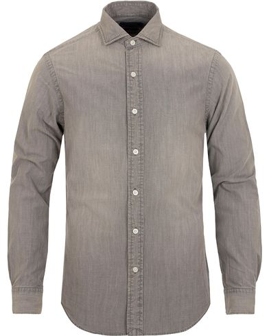 Polo Ralph Lauren Slim Fit Chambray Cut Away Shirt Grey i gruppen Skjorter / Casual Skjorter hos Care of Carl (13194711r)