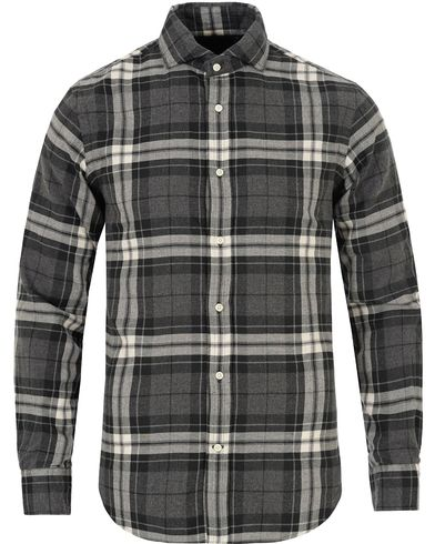 Polo Ralph Lauren Slim Fit Flannel Check Shirt Charlcoal i gruppen Skjorter / Flanellskjorter hos Care of Carl (13194811r)