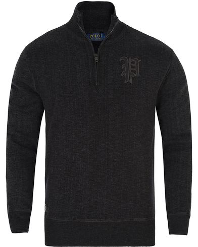 Polo Ralph Lauren Cotton Half Zip Charcoal Marl i gruppen Tröjor / Zip-tröjor hos Care of Carl (13195011r)