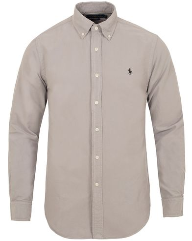 Polo Ralph Lauren Slim Fit Garment Dyed Oxford Shirt Quartz Grey i gruppen Kläder / Skjortor / Oxfordskjortor hos Care of Carl (13195311r)
