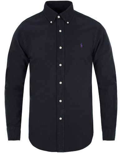 Polo Ralph Lauren Slim Fit Garment Dyed Oxford Shirt Polo Black i gruppen Kläder / Skjortor / Oxfordskjortor hos Care of Carl (13195411r)