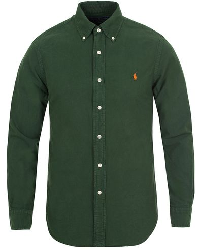 Polo Ralph Lauren Slim Fit Garment Dyed Oxford Shirt Bentley Green i gruppen Skjorter / Casual Skjorter hos Care of Carl (13195511r)