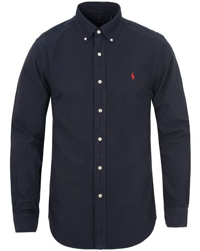 Polo Ralph Lauren Slim Fit Garment Dyed Oxford Shirt Hunter Navy i gruppen Skjorter / Oxfordskjorter hos Care of Carl (13195711r)