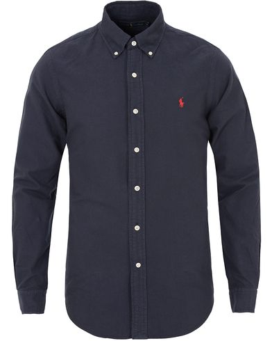 Polo Ralph Lauren Core Fit Garment Dyed Oxford Shirt Hunter Navy i gruppen Klær / Skjorter / Oxfordskjorter hos Care of Carl (13196011r)