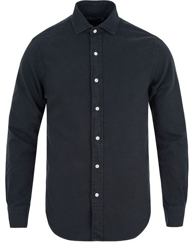 Polo Ralph Lauren Slim Fit Estate Cut Away Twill Shirt Polo Black i gruppen Kläder / Skjortor / Casual skjortor hos Care of Carl (13196211r)