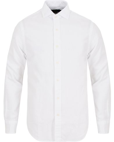 Polo Ralph Lauren Slim Fit Estate Cut Away Twill Shirt White i gruppen Kläder / Skjortor / Casual skjortor hos Care of Carl (13196311r)