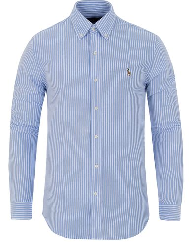 Polo Ralph Lauren Oxford Knit Shirt Harbour Island/White i gruppen Kläder / Skjortor / Pikéskjortor hos Care of Carl (13197011r)