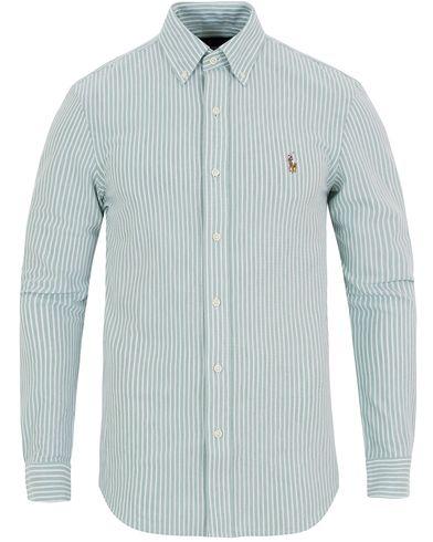 Polo Ralph Lauren Oxford Knit Shirt Green/White i gruppen Skjorter / Pikéskjorter hos Care of Carl (13197111r)