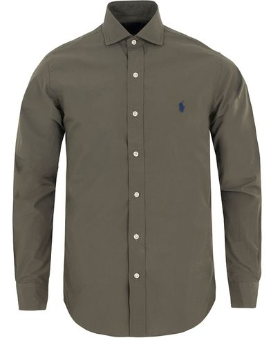 Polo Ralph Lauren Slim Fit Estate Cut Away Poplin Shirt Sage Green i gruppen Kläder / Skjortor / Casual skjortor hos Care of Carl (13197311r)