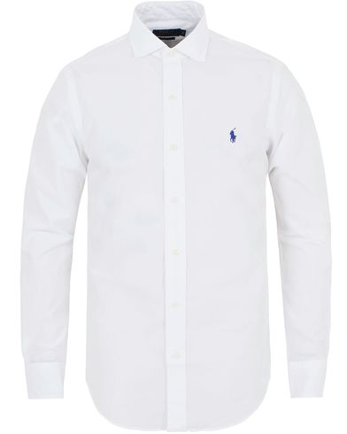 Polo Ralph Lauren Slim Fit Estate Cut Away Poplin Shirt White i gruppen Kläder / Skjortor / Casual skjortor hos Care of Carl (13197411r)