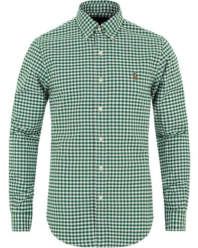 Polo Ralph Lauren Slim Fit Stretch Oxford Shirt Green i gruppen Klær / Skjorter / Oxfordskjorter hos Care of Carl (13197711r)
