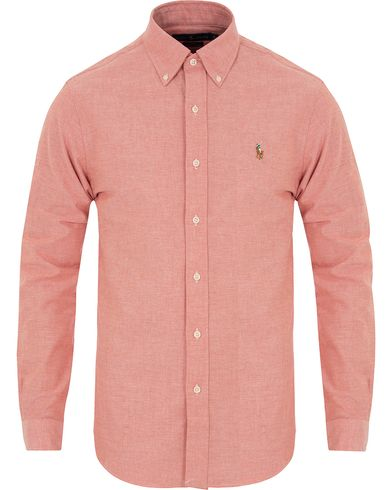 Polo Ralph Lauren Slim Fit Stretch Oxford Shirt Orange i gruppen Skjorter / Oxfordskjorter hos Care of Carl (13197911r)