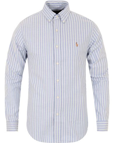 Polo Ralph Lauren Slim Fit Stretch Oxford Stripe Shirt Blue/White i gruppen Skjorter / Oxfordskjorter hos Care of Carl (13198011r)