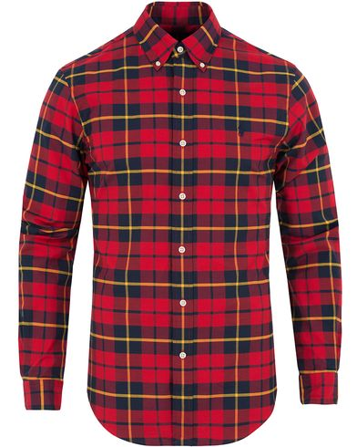 Polo Ralph Lauren Slim Fit Stretch Oxford Check Shirt Red Black i gruppen Design A / Skjorter / Oxfordskjorter hos Care of Carl (13198211r)