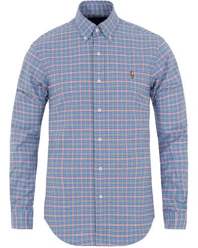 Polo Ralph Lauren Slim Fit Stretch Oxford Shirt Sky Blue/Orange i gruppen Klær / Skjorter / Oxfordskjorter hos Care of Carl (13198711r)