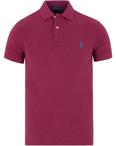 Polo Ralph Lauren Slim Fit Polo New Cranberry Heather i gruppen Pik�er / Kortermet Pik� hos Care of Carl (13199411r)