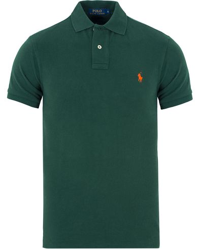 Polo Ralph Lauren Slim Fit Polo North West Pine i gruppen Kläder / Pikéer / Kortärmade pikéer hos Care of Carl (13199511r)